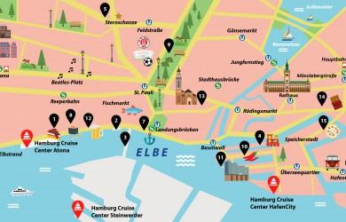 Hamburg Guide: Stadtplan mit 15 Insider-Tipps für einen Besuch in der Hansestadt