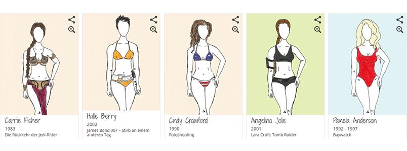Halle Berry, Angelina Jolie im Bikini