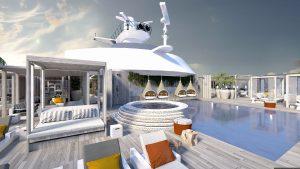 Retreat Lounge auf der Celebrity Edge