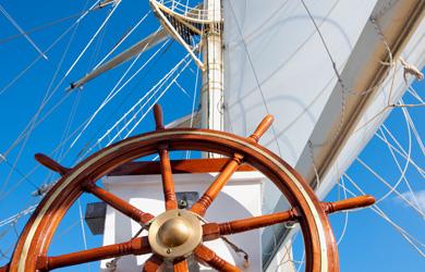 Star Clipper Ruder, Mast & Segel