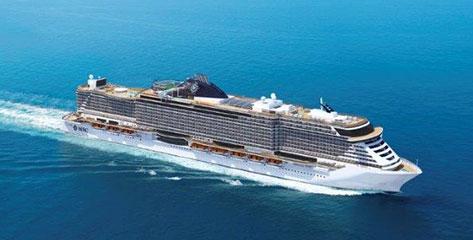 Das neue Schiff MSC Seaview in der Flotte von MSC Kreuzfahrten