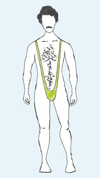 Borat swim shorts
