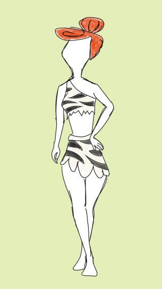 Wilma Flintstone swimsuit