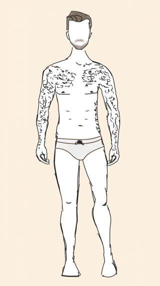 David Beckham swim shorts