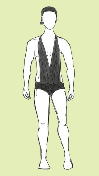 Jim Carrey swim shorts
