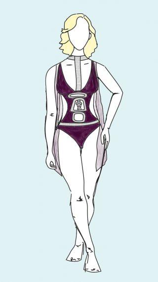 Kim Cattrall bikini / swimsuit