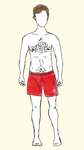 David Hasselhoff swim shorts