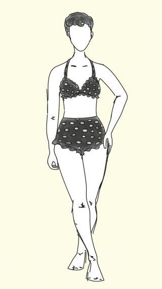 Audrey Hepburn bikini / swimsuit